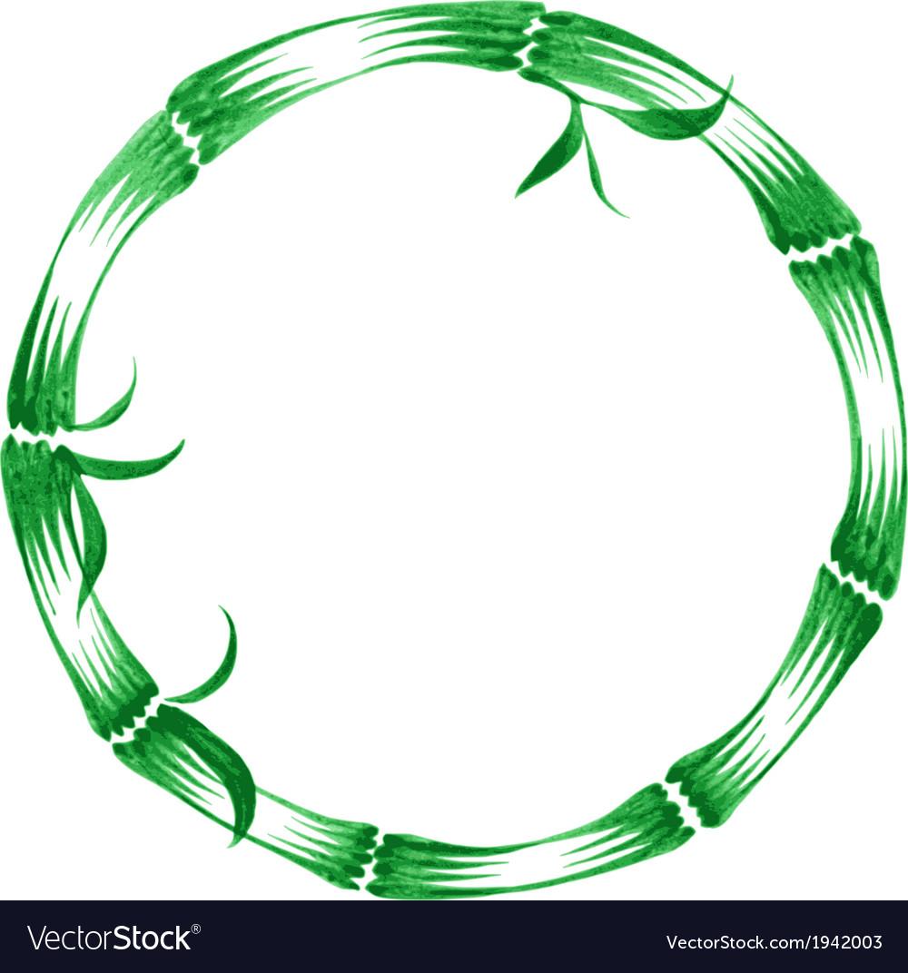 Decorative ornament bamboo frame vector   Price: 1 Credit (USD $1)