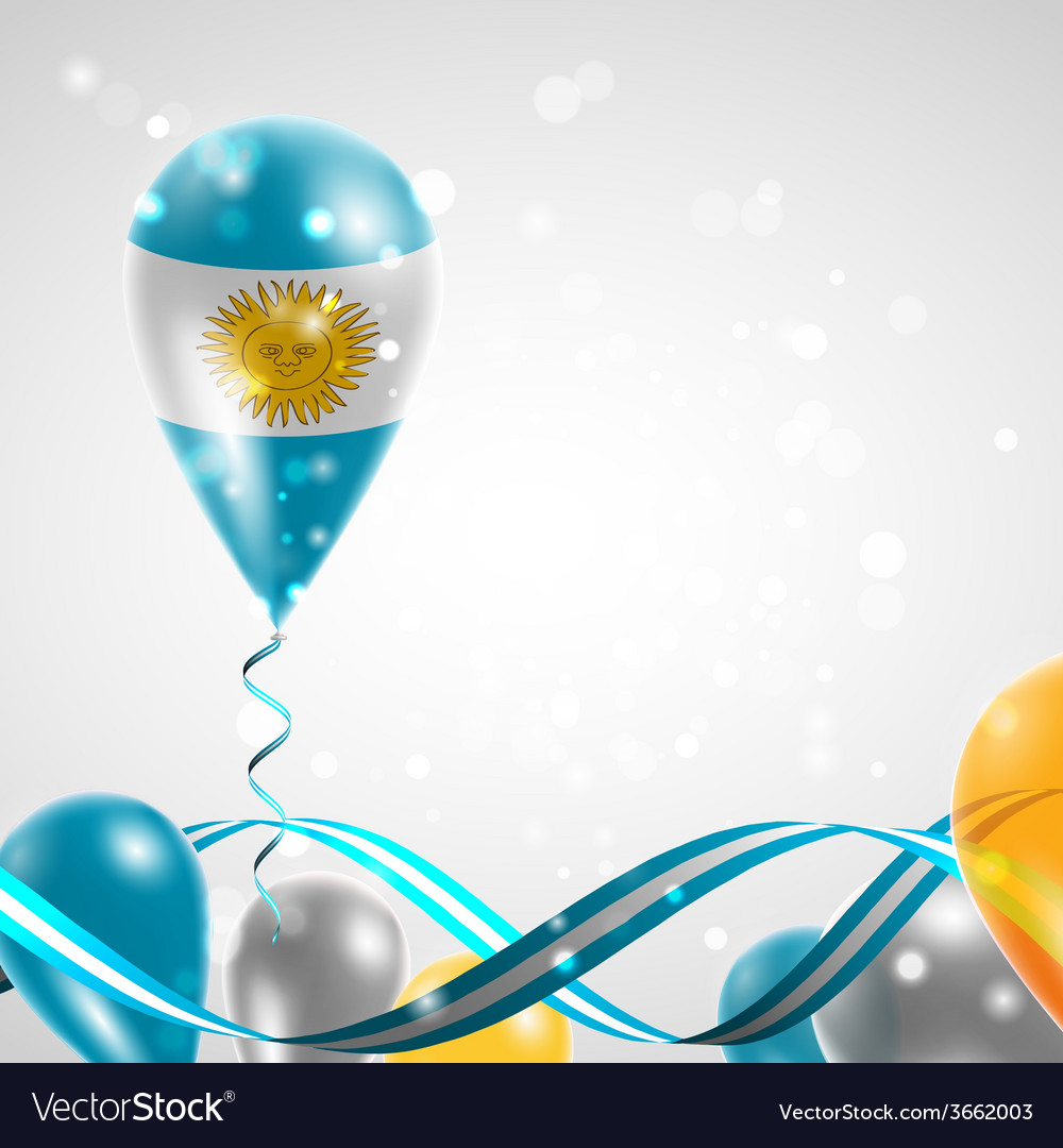 Flag of argentina on balloon vector | Price: 1 Credit (USD $1)