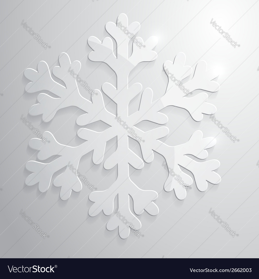 Glass snowflake christmas vector | Price: 1 Credit (USD $1)