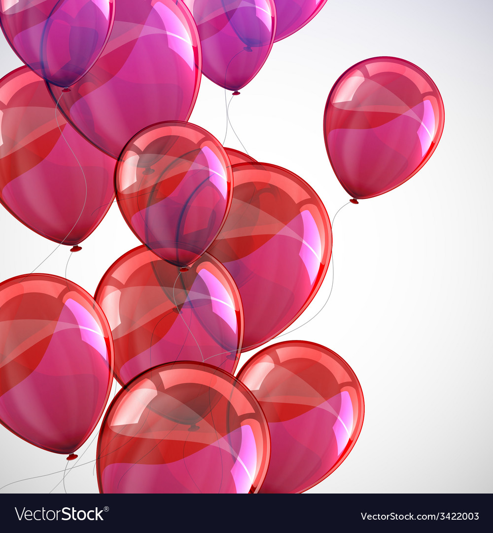 Holiday background with flying red balloons and vector | Price: 1 Credit (USD $1)