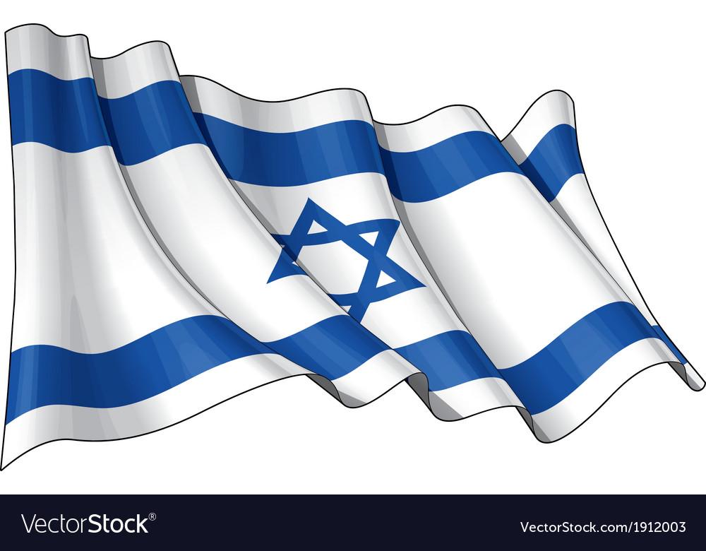 Israel flag vector | Price: 1 Credit (USD $1)