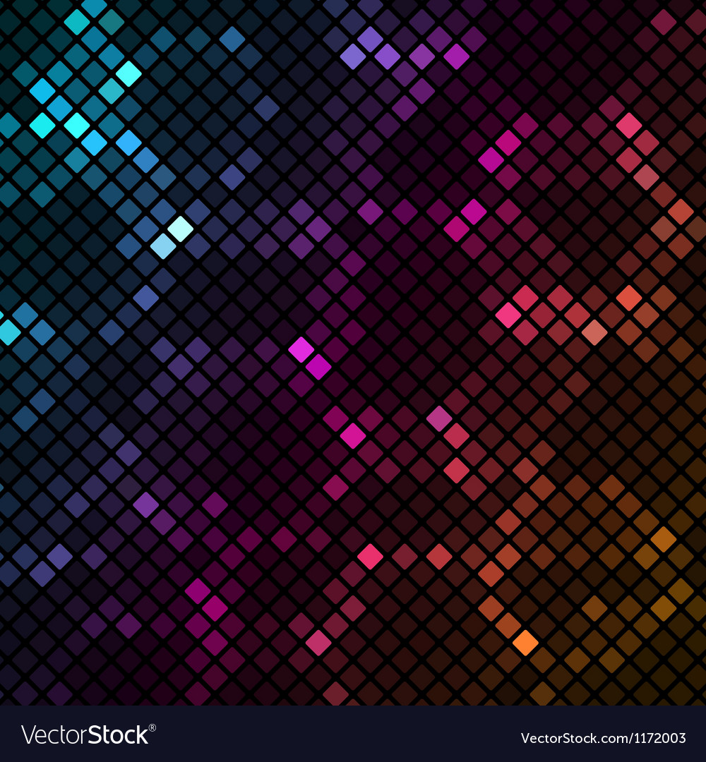 Mosaic with colourful hexagons background vector | Price: 1 Credit (USD $1)