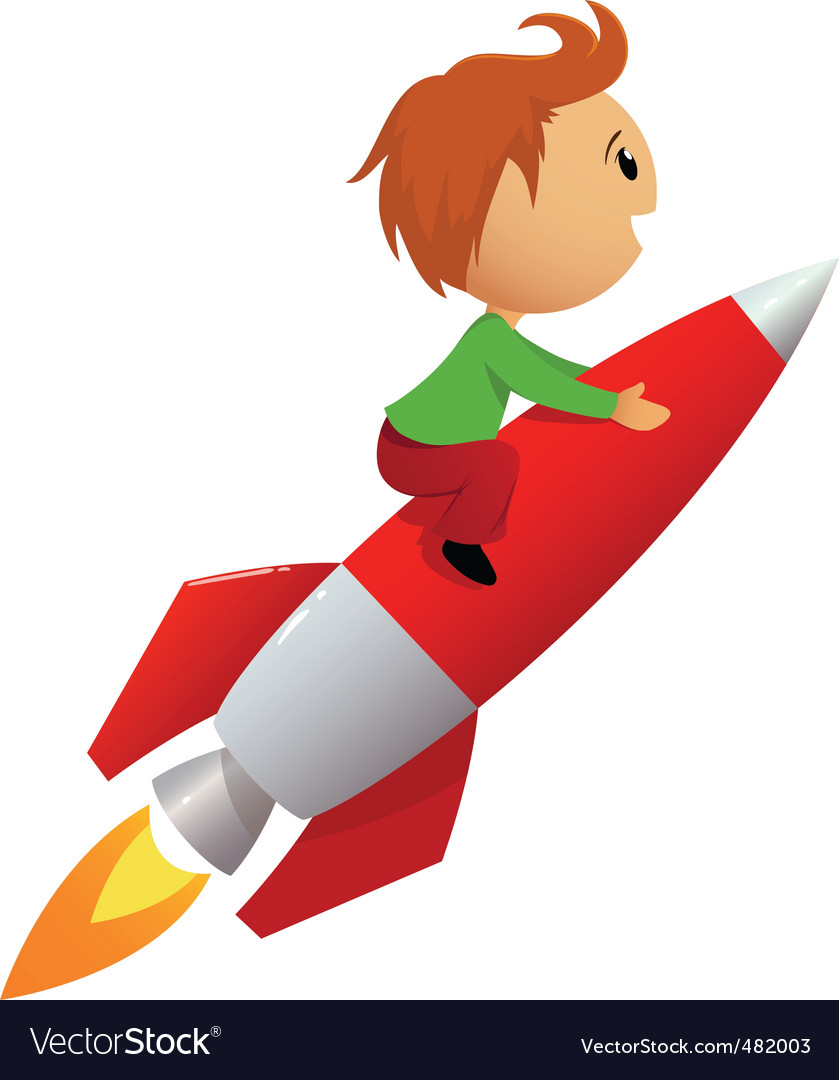 Rocket ride vector | Price: 1 Credit (USD $1)