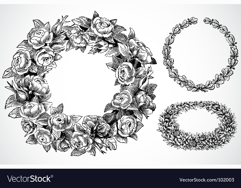 Rose wreaths vector | Price: 1 Credit (USD $1)
