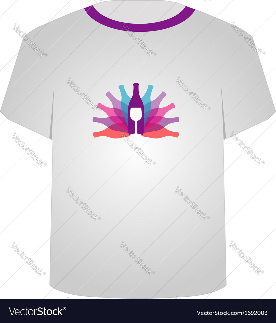T shirt template- wine vector | Price: 1 Credit (USD $1)