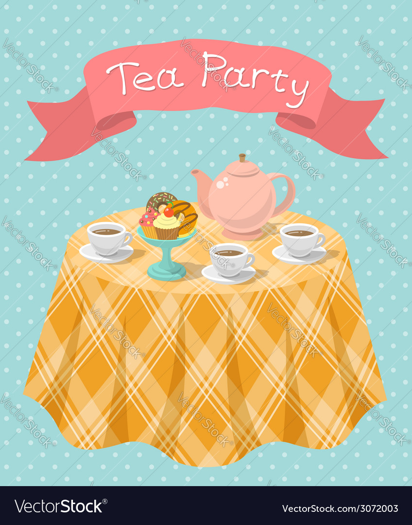 Tea party vector | Price: 1 Credit (USD $1)