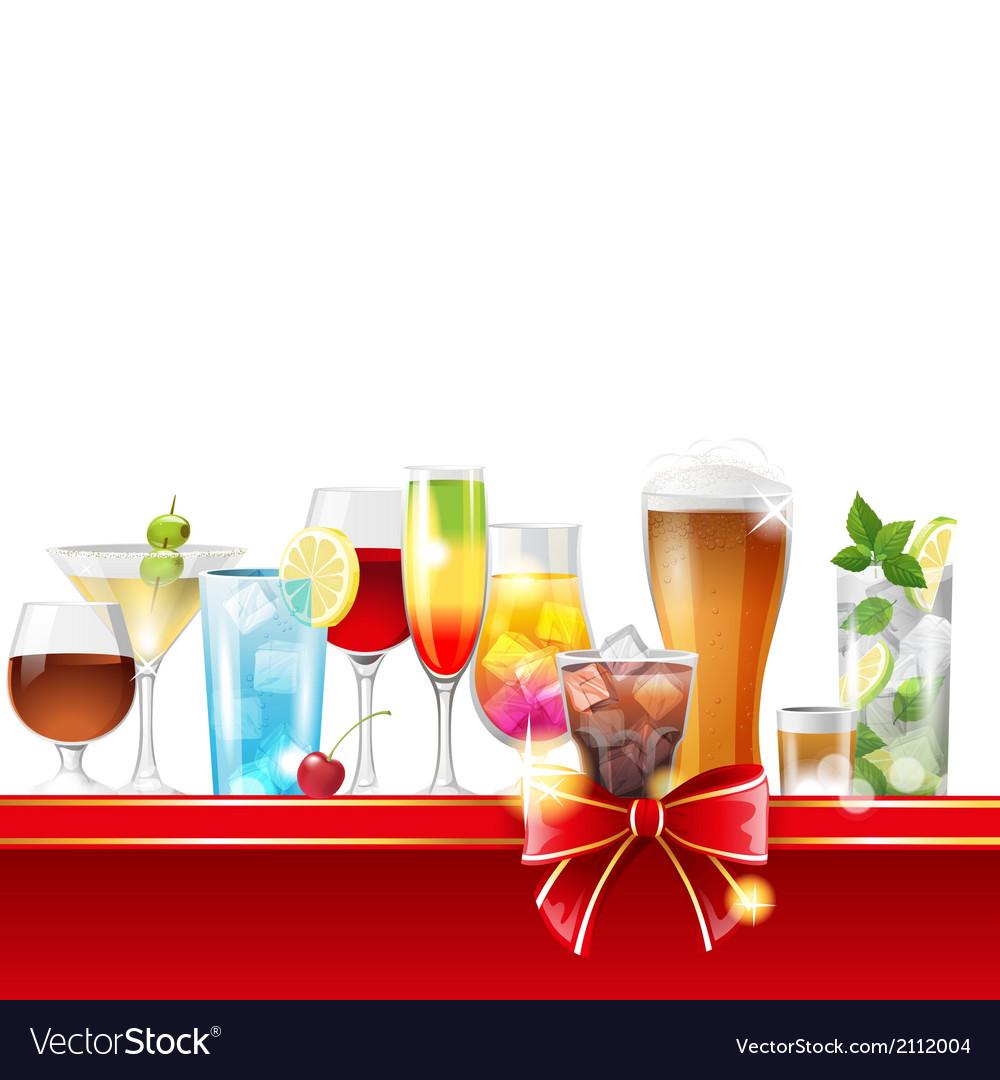 Alcohol cocktails vector | Price: 3 Credit (USD $3)