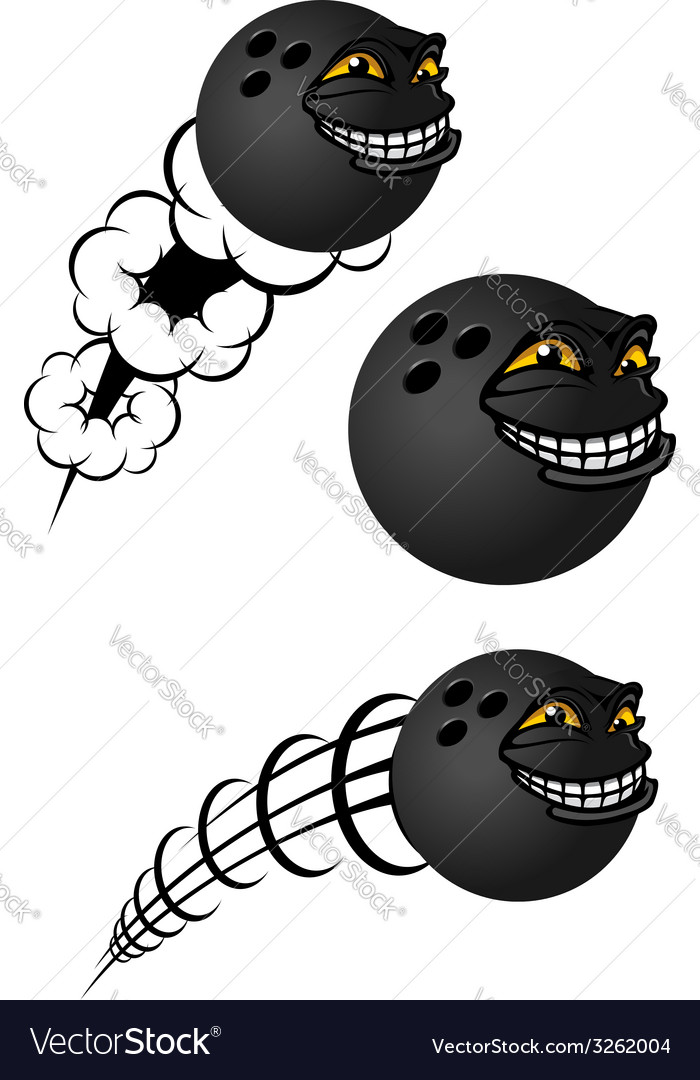 Cartoon bowling balls characters vector | Price: 1 Credit (USD $1)