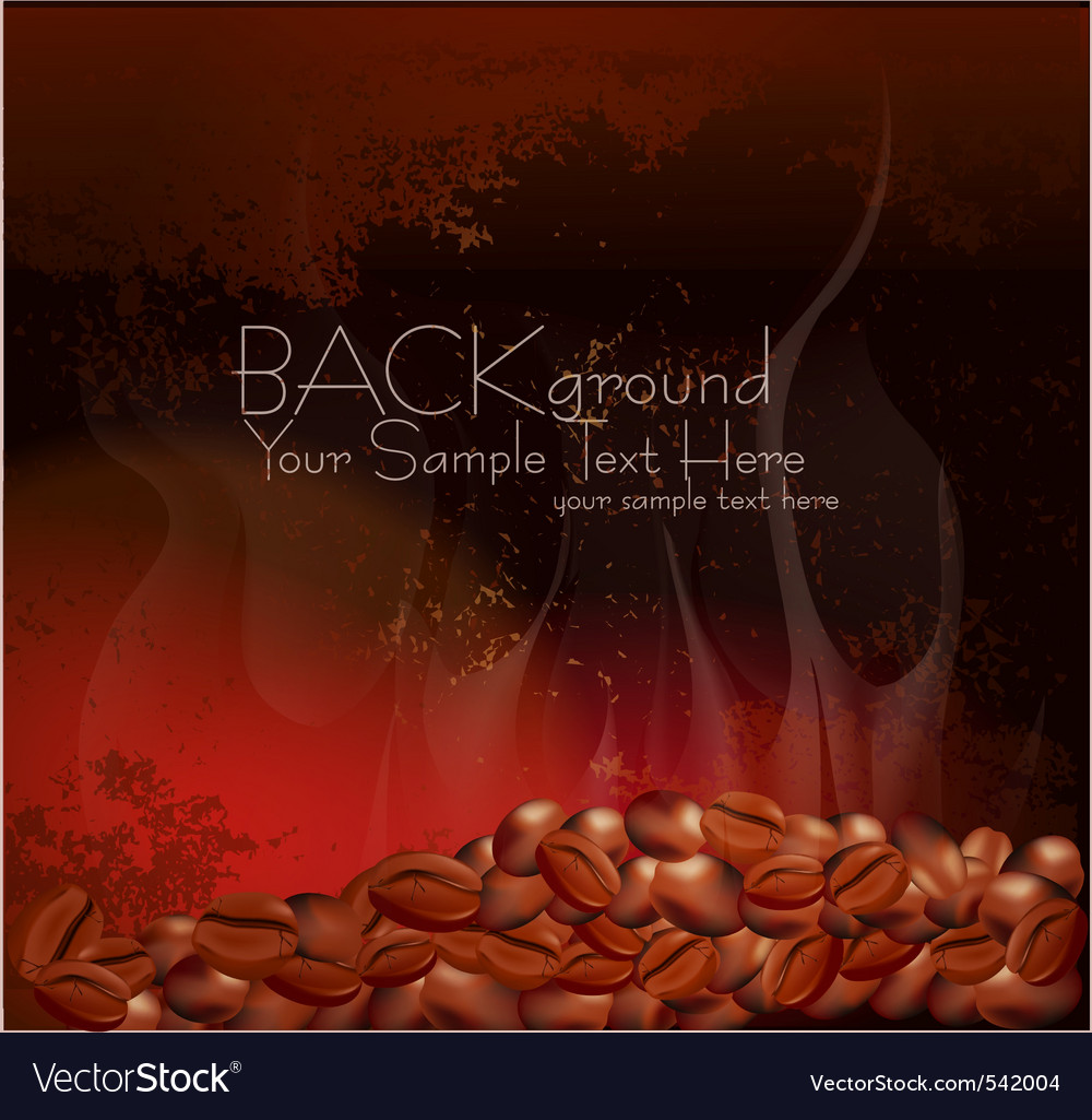 Coffee beans background vector | Price: 1 Credit (USD $1)