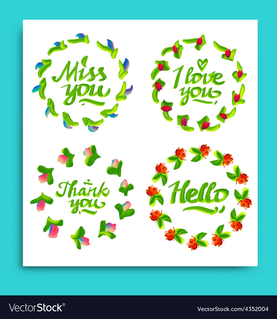 Greeting cards for different occasions everyday vector | Price: 1 Credit (USD $1)
