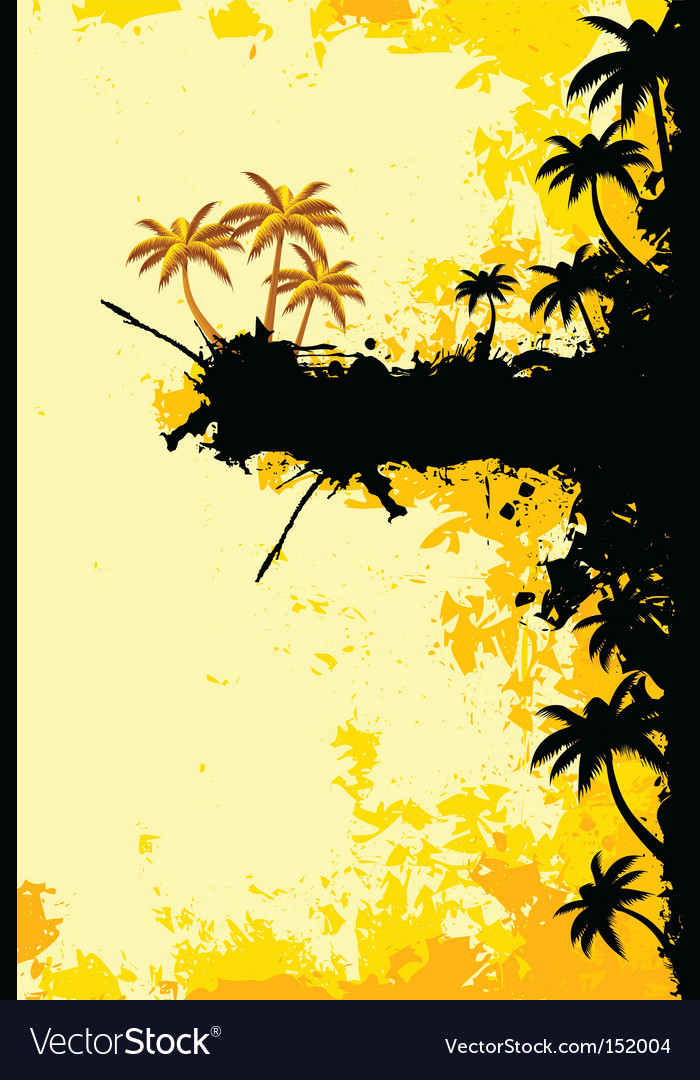 Grunge tropical landscape vector | Price: 1 Credit (USD $1)