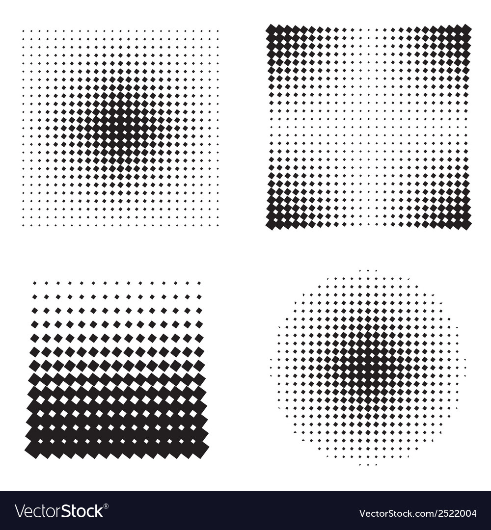 Halftone patterns vector | Price: 1 Credit (USD $1)