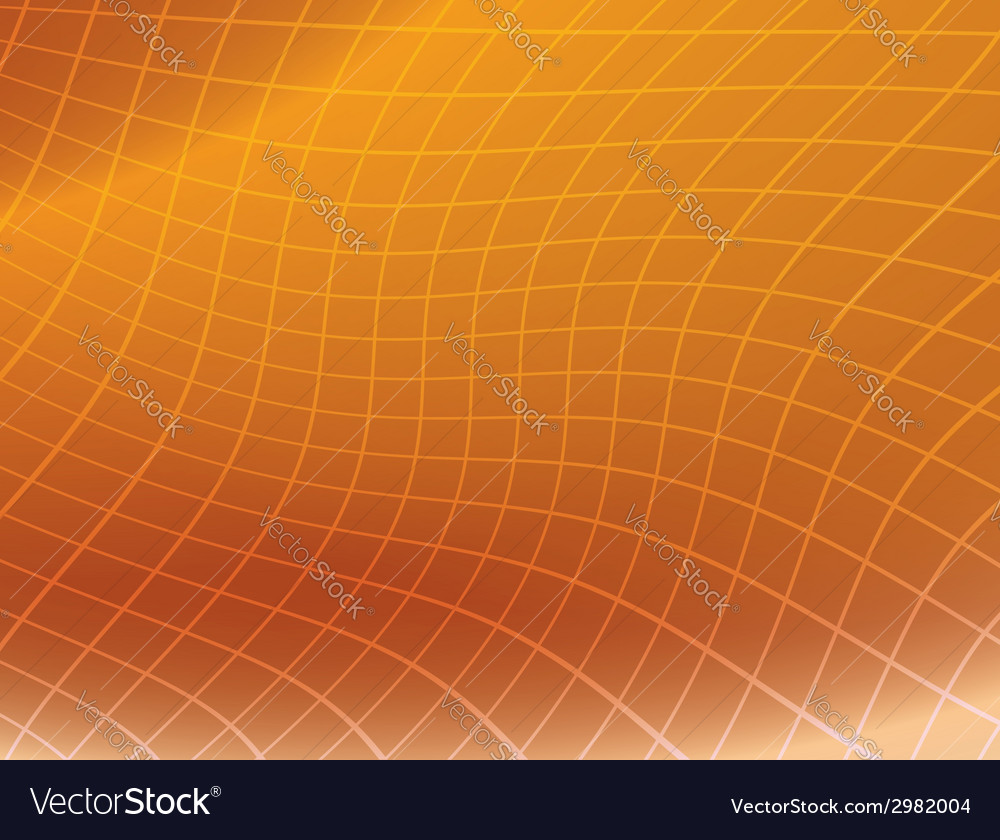 Orange background with distorted grid vector | Price: 1 Credit (USD $1)