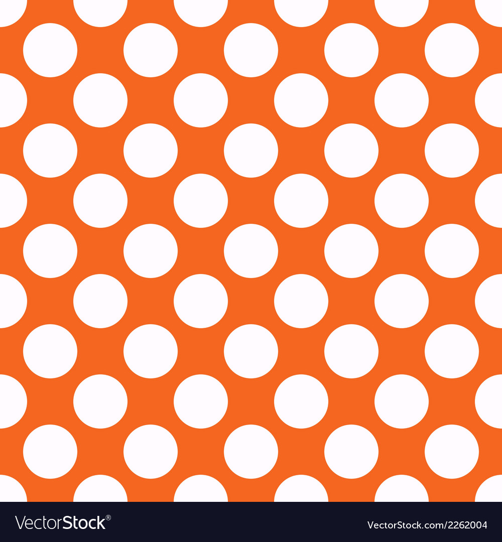 Orange polka dot seamless pattern vector | Price: 1 Credit (USD $1)