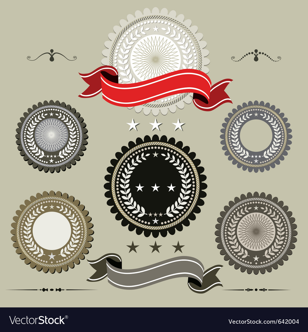 Set of seals vector | Price: 1 Credit (USD $1)