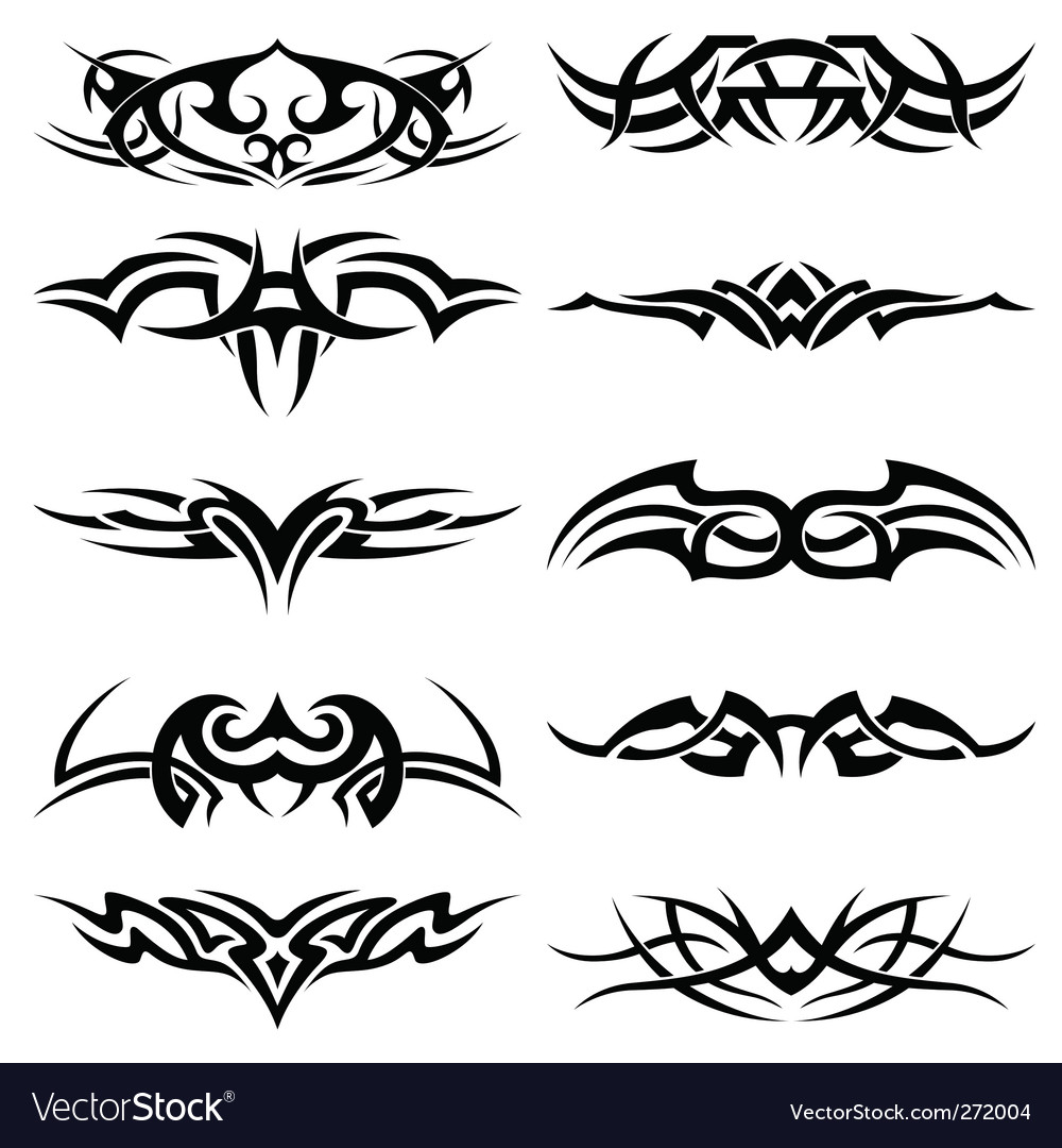 Tribal tattoo pack vector | Price: 1 Credit (USD $1)