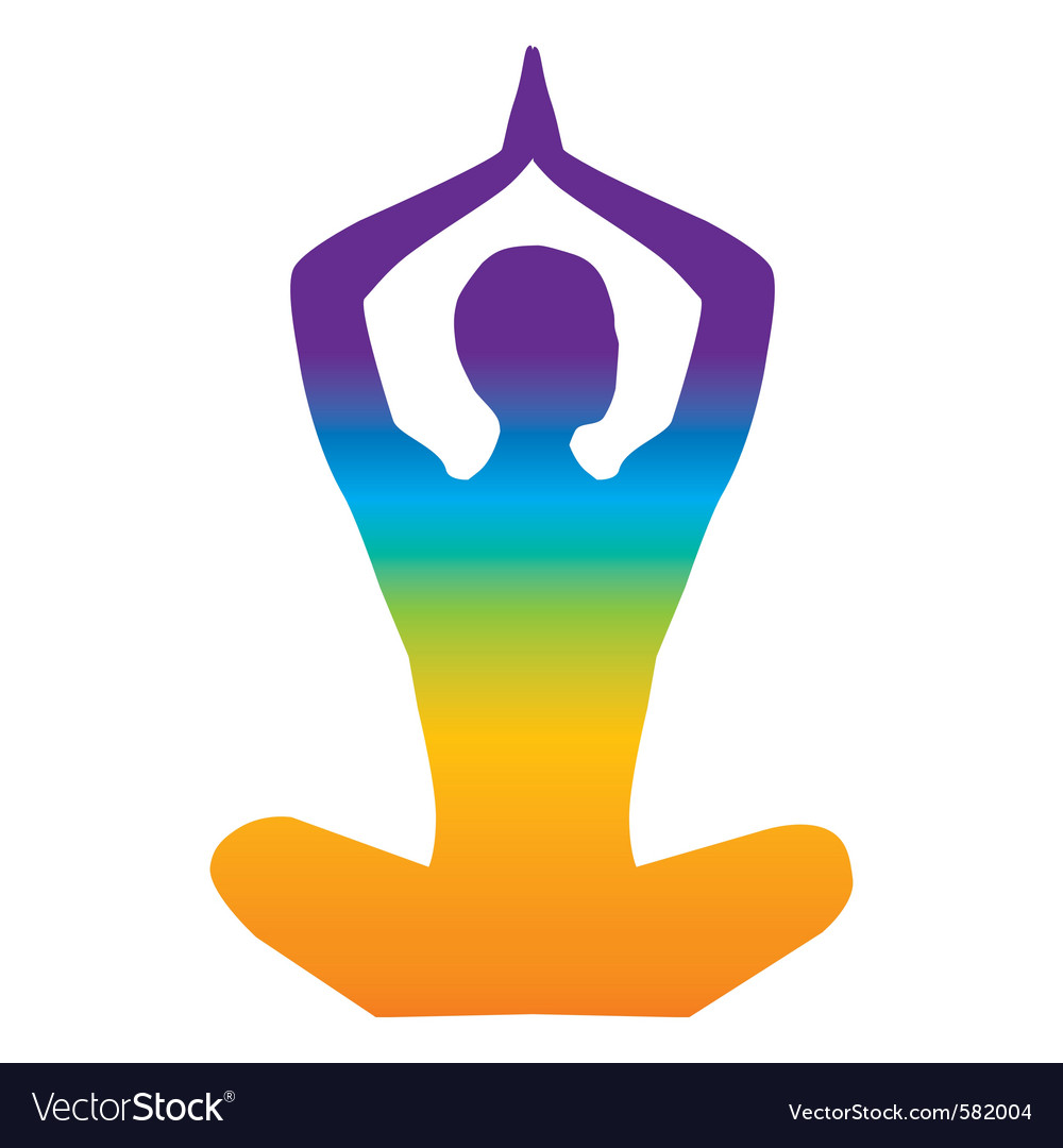 Yoga color vector | Price: 1 Credit (USD $1)