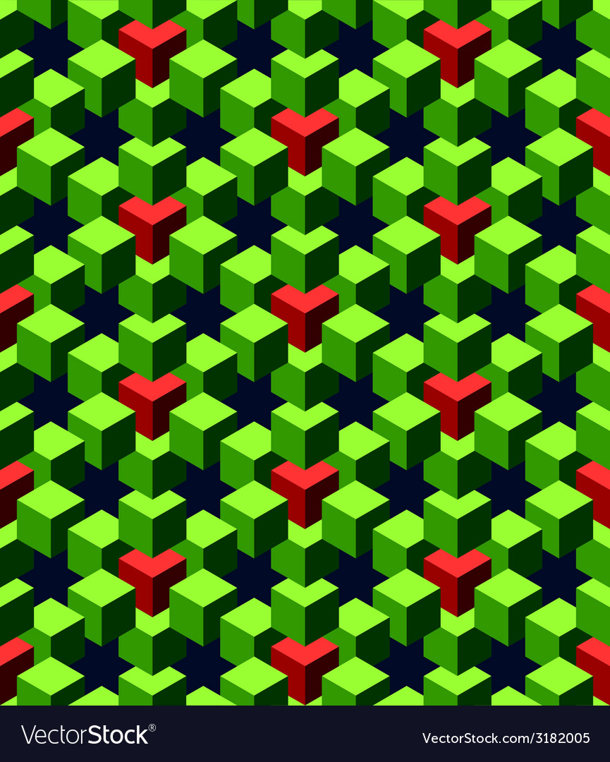 Abstract green cubes vector | Price: 1 Credit (USD $1)