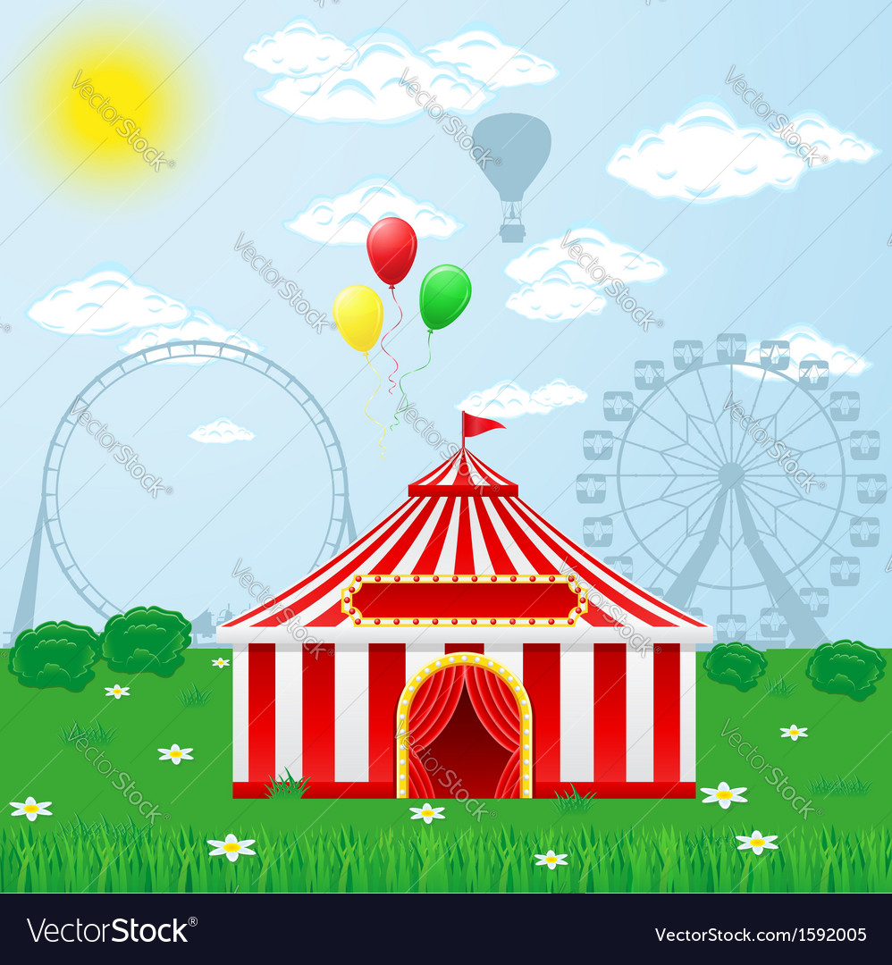 Circus tent on nature vector | Price: 3 Credit (USD $3)