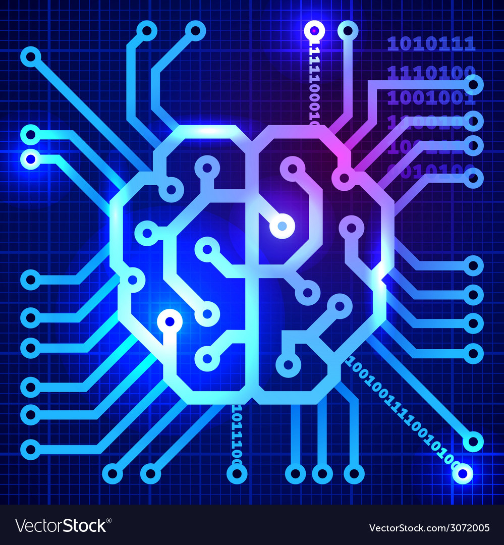Cyber brain vector   Price: 1 Credit (USD $1)