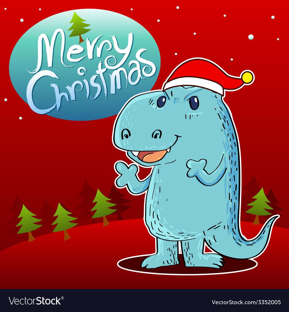 Dragon merry christmas vector   Price: 3 Credit (USD $3)