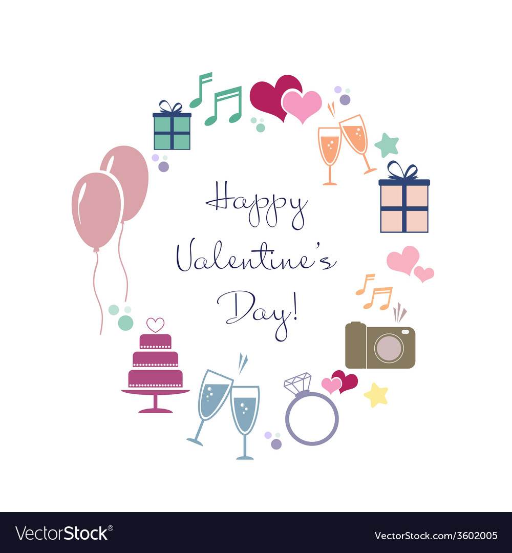 Happy valentines vector | Price: 1 Credit (USD $1)