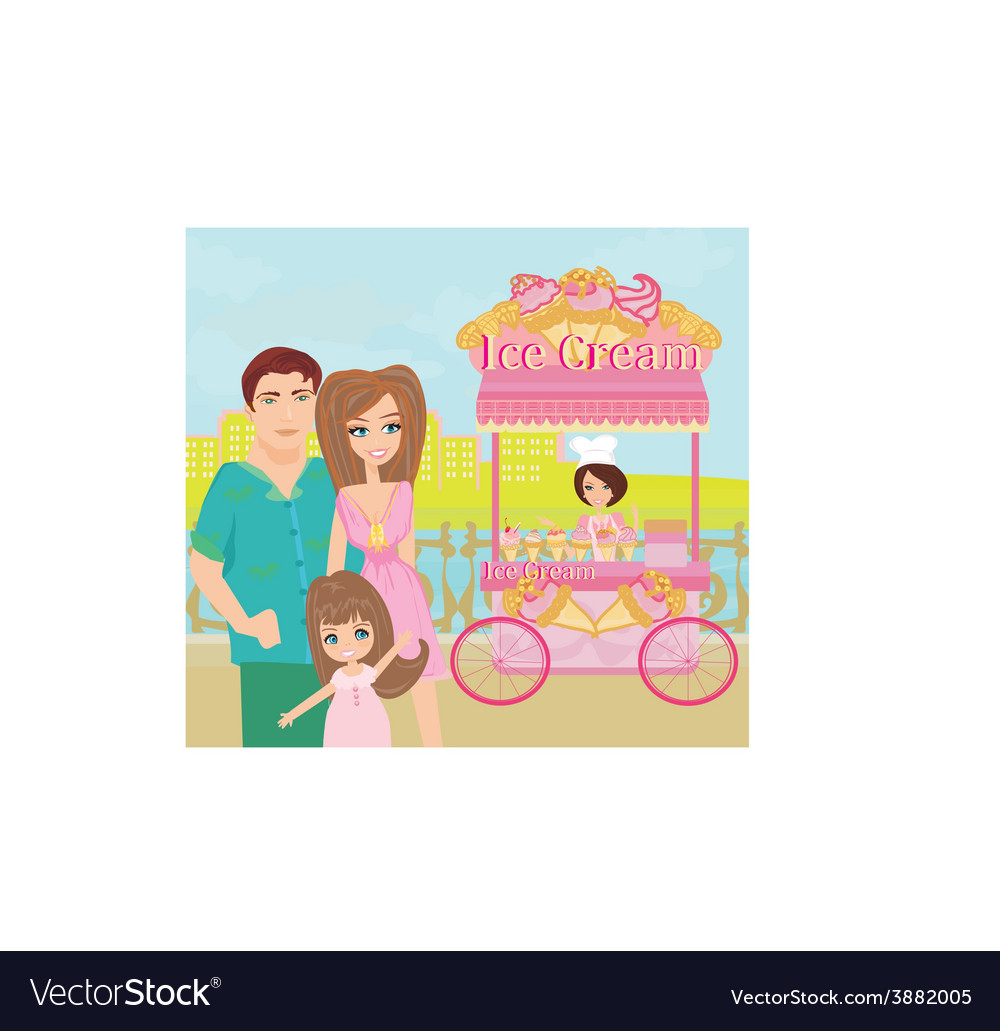 Ice cream mobile shop vector | Price: 1 Credit (USD $1)