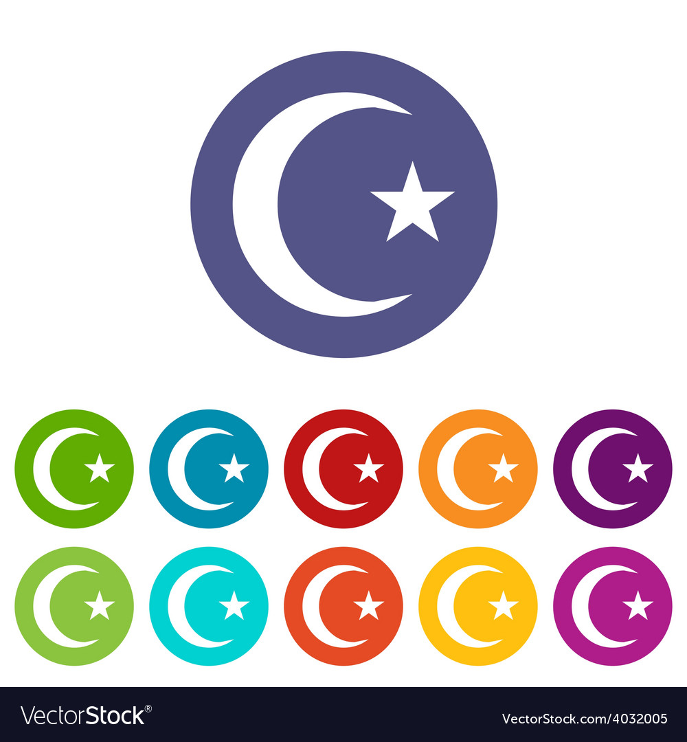 Islam flat symbol vector | Price: 1 Credit (USD $1)
