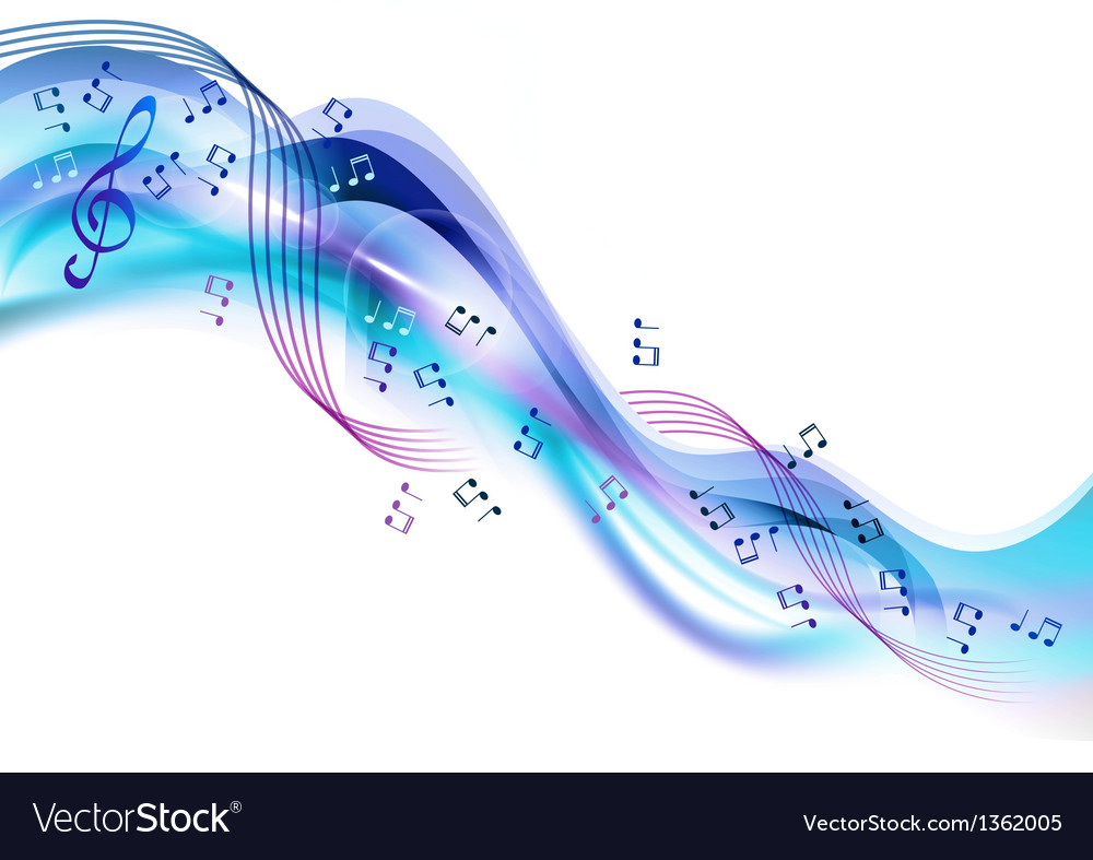 Music abstract blue vector | Price: 1 Credit (USD $1)