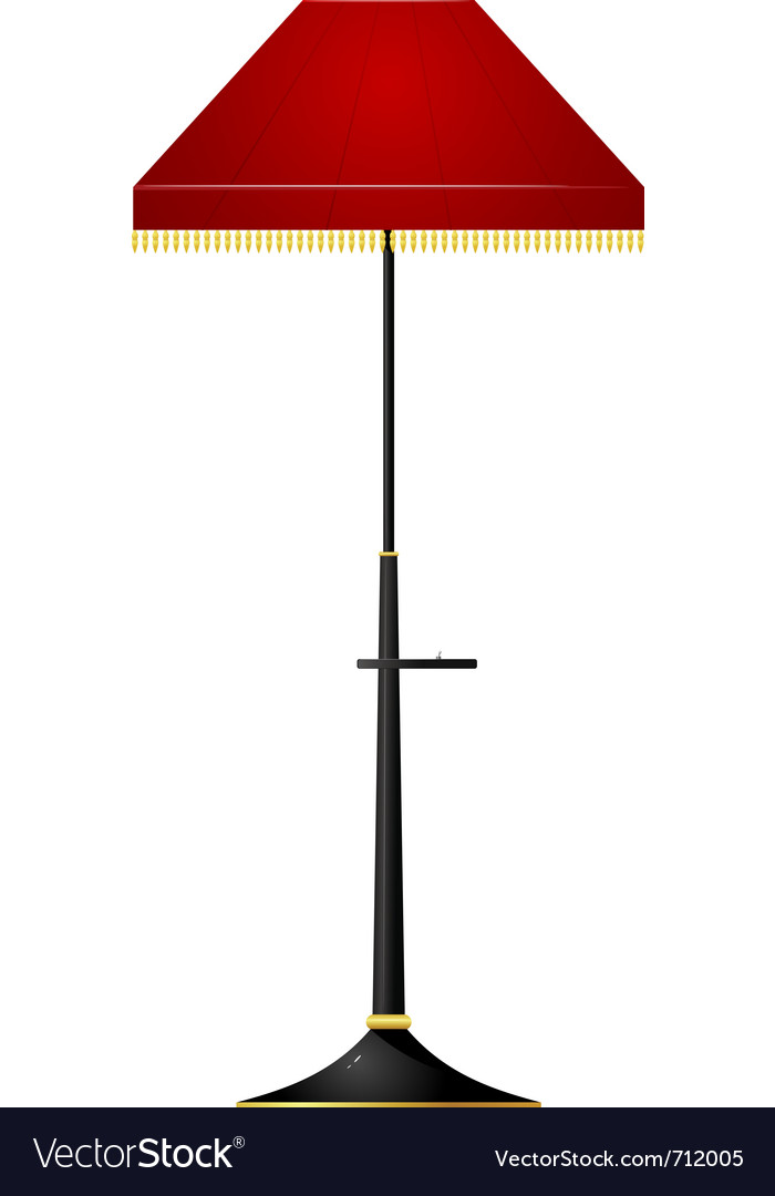 Of red floor lamp vector | Price: 1 Credit (USD $1)