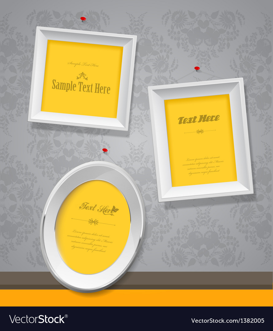 Set of empty picture frames for your own vector | Price: 1 Credit (USD $1)