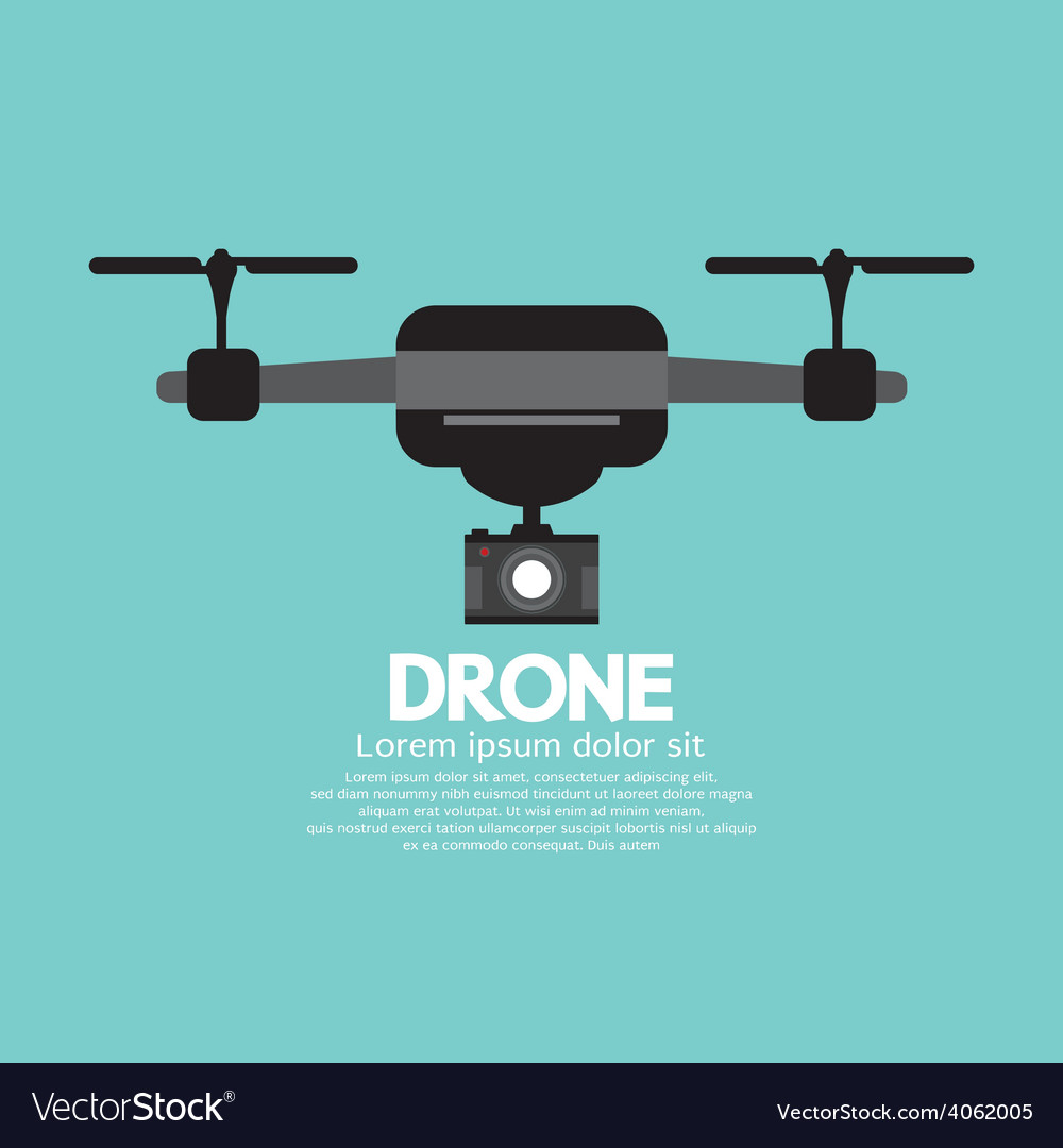 Side view of drone vector | Price: 1 Credit (USD $1)