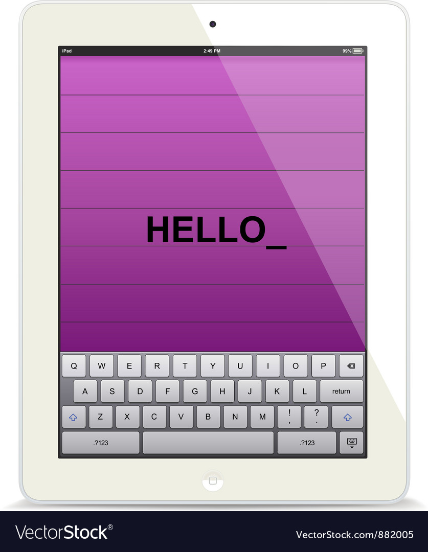 Tablet computer white vector | Price: 3 Credit (USD $3)