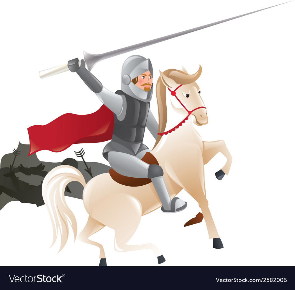 2288 knight with lance on horseback vector | Price: 1 Credit (USD $1)