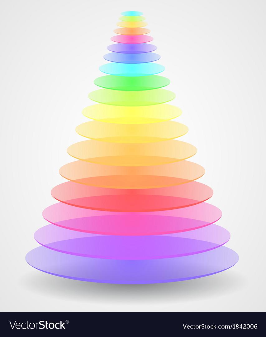 Abstract creative pyramid vector | Price: 1 Credit (USD $1)