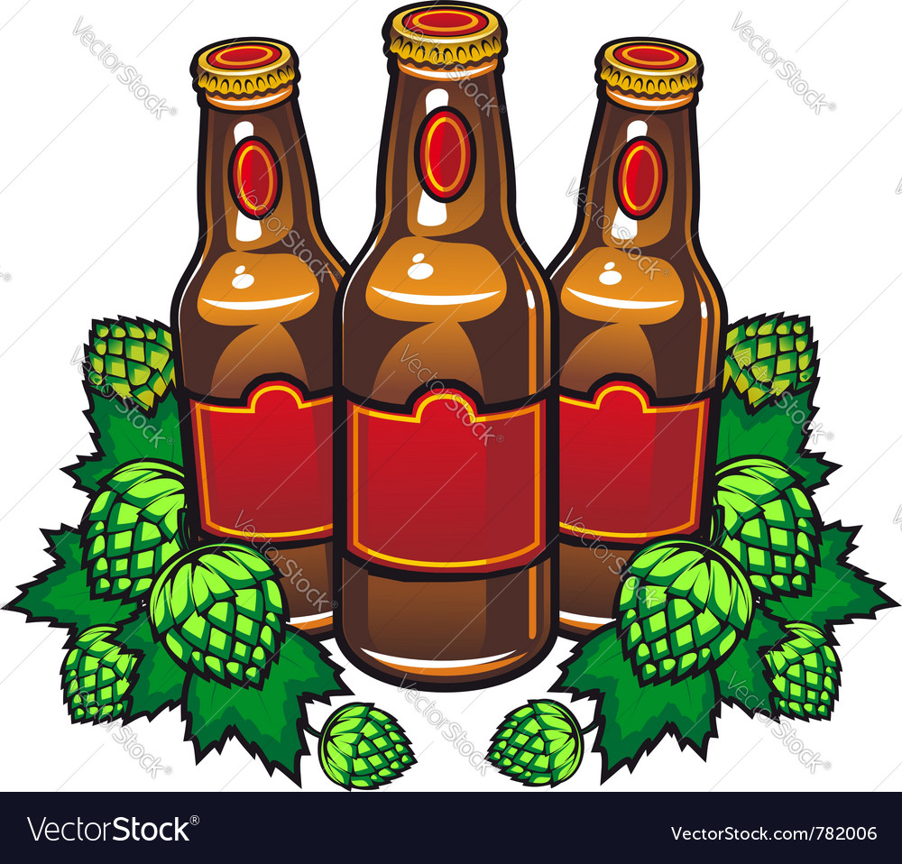 Beer bottles vector | Price: 3 Credit (USD $3)