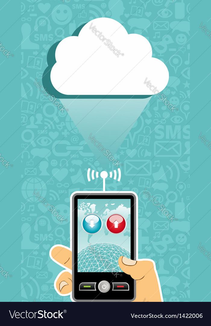 Cloud computing communication vector | Price: 1 Credit (USD $1)