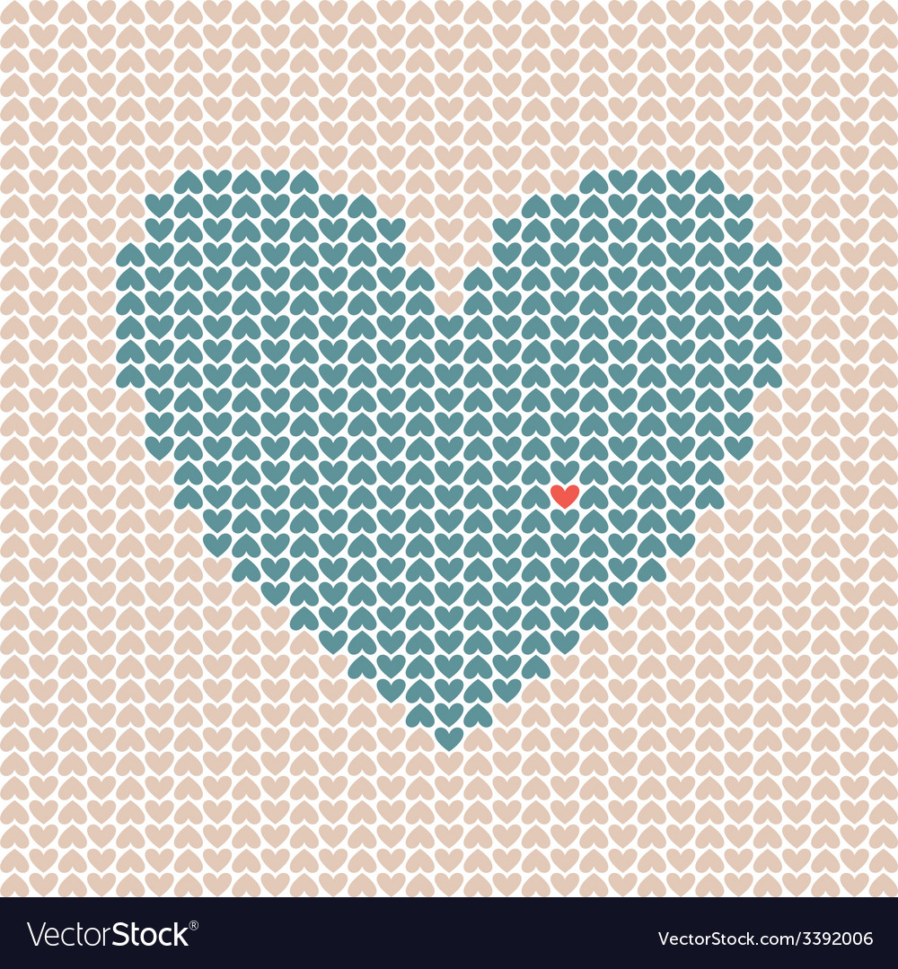 Heart made of little hearts vector | Price: 1 Credit (USD $1)