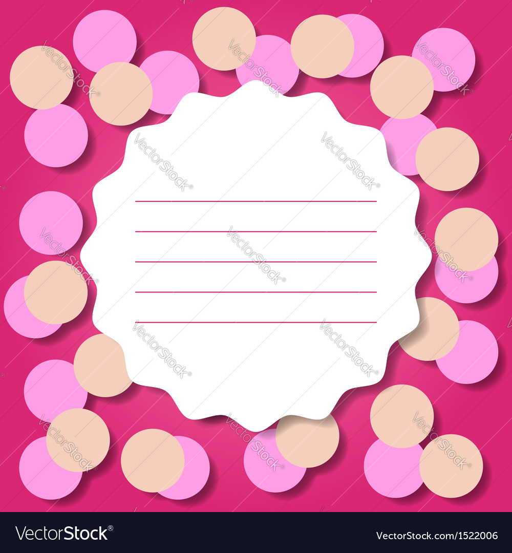 Invitation or greeting card template vector | Price: 1 Credit (USD $1)