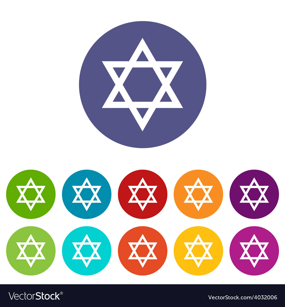 Judaism flat symbol vector | Price: 1 Credit (USD $1)