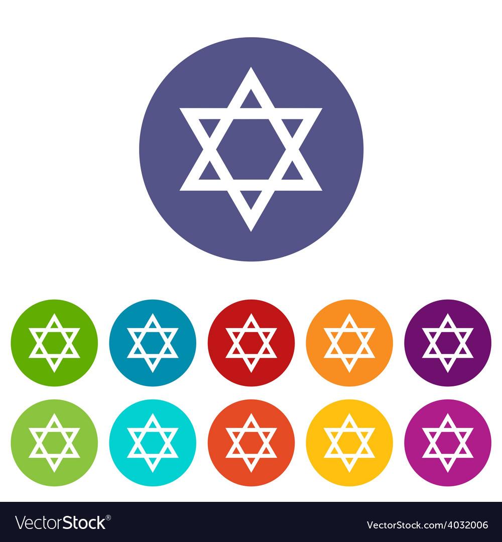 Judaism flat symbol vector | Price: 1 Credit (USD $1)