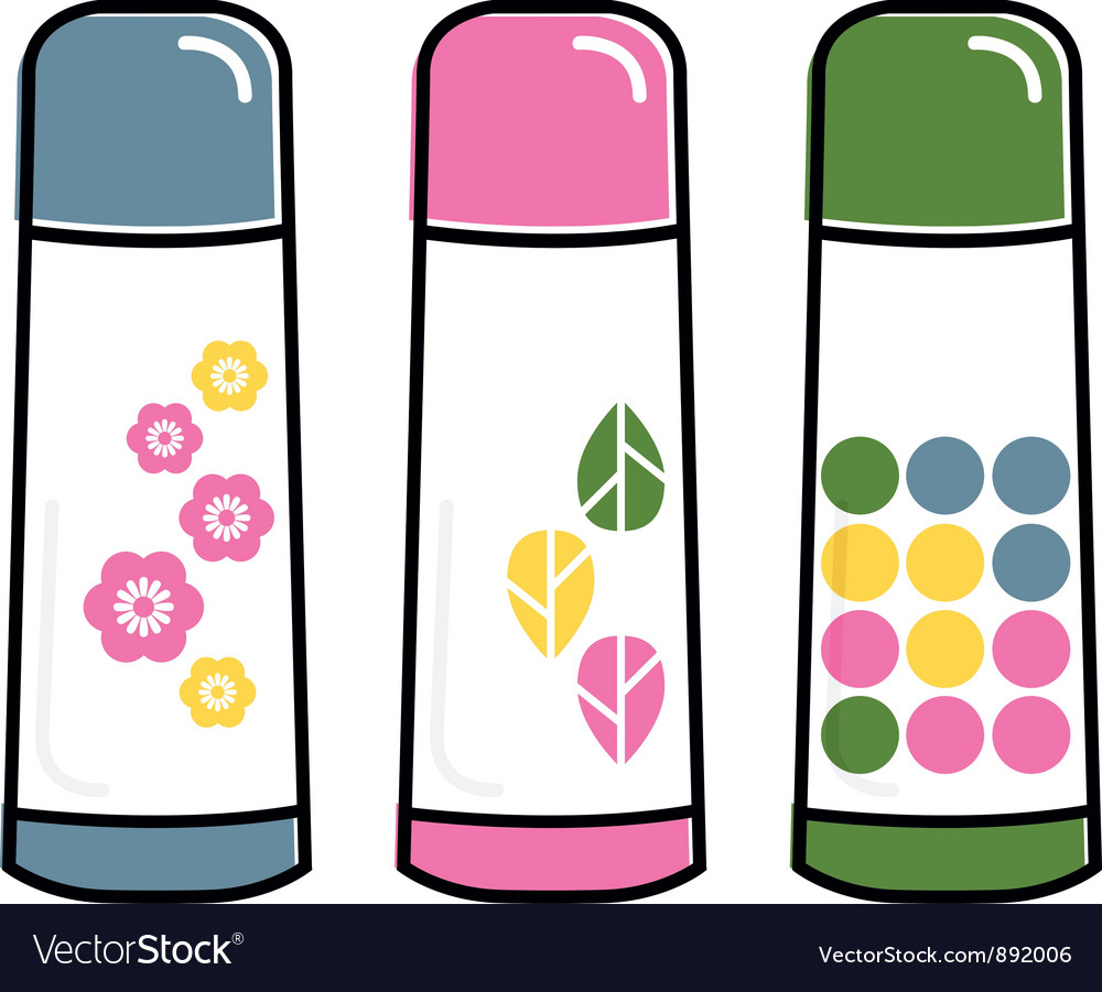 Retro thermos collection vector | Price: 1 Credit (USD $1)