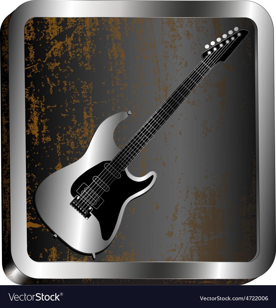 Steel icon guitar engraving vector   Price: 1 Credit (USD $1)