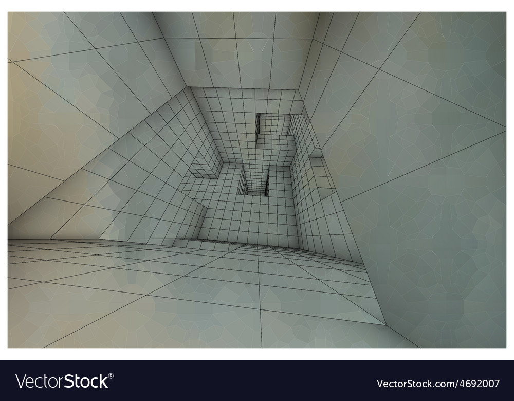 3d futuristic labyrinth shaded interior vector | Price: 1 Credit (USD $1)