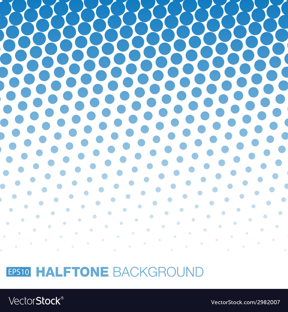 Abstract blue halftone background vector | Price: 1 Credit (USD $1)