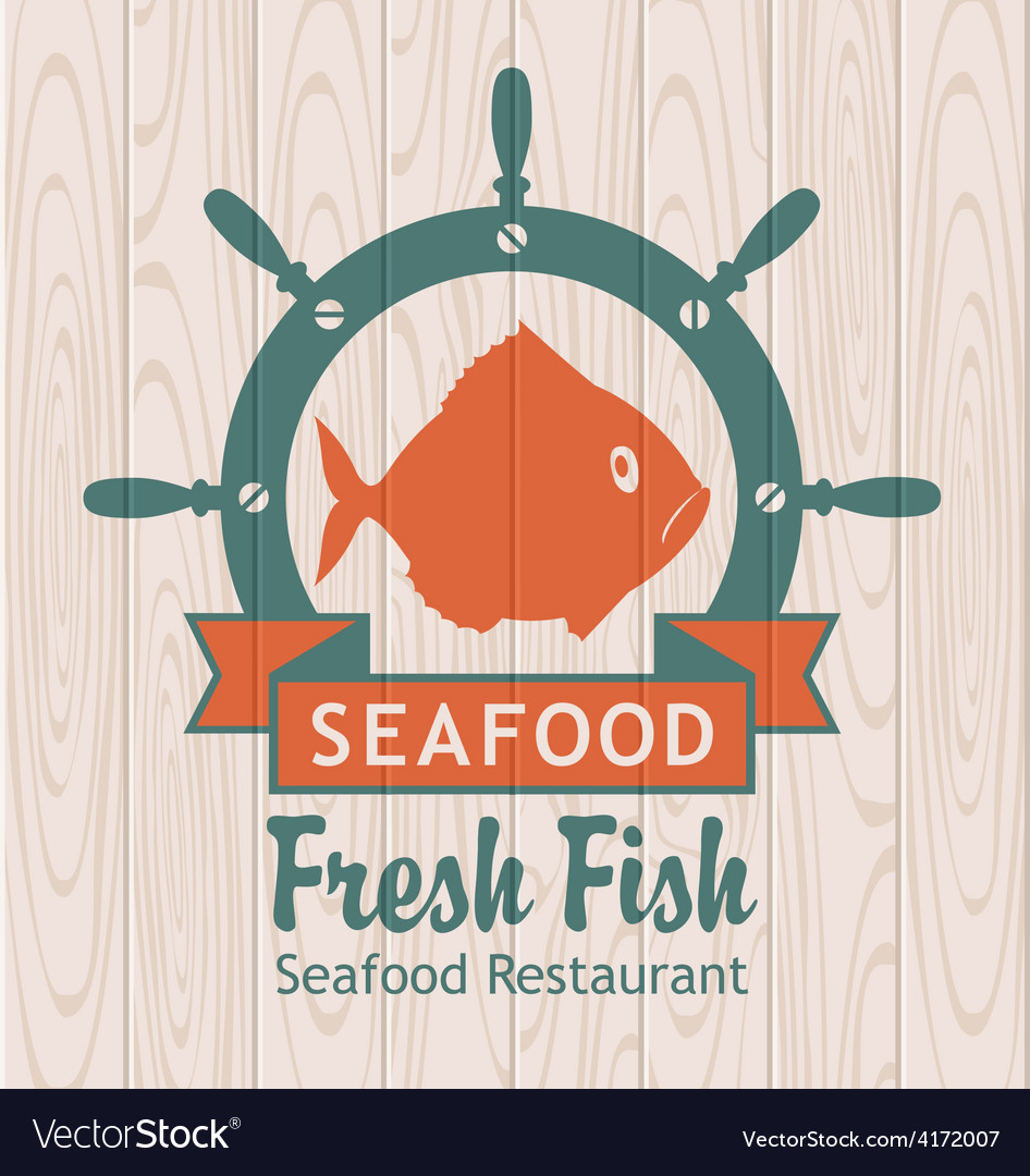 Banner for seafood vector | Price: 1 Credit (USD $1)