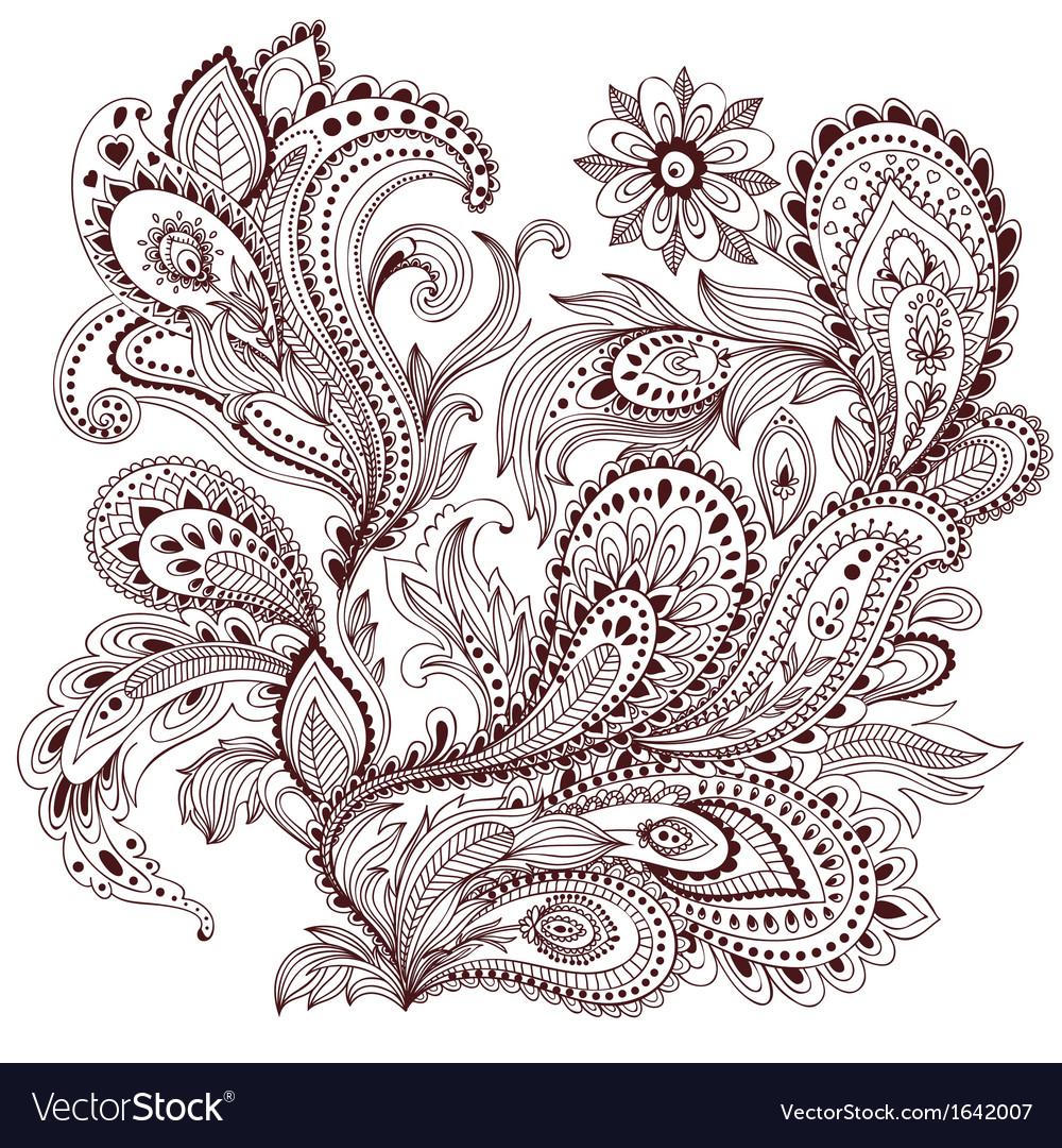 Beautiful vintage ornament vector | Price: 1 Credit (USD $1)