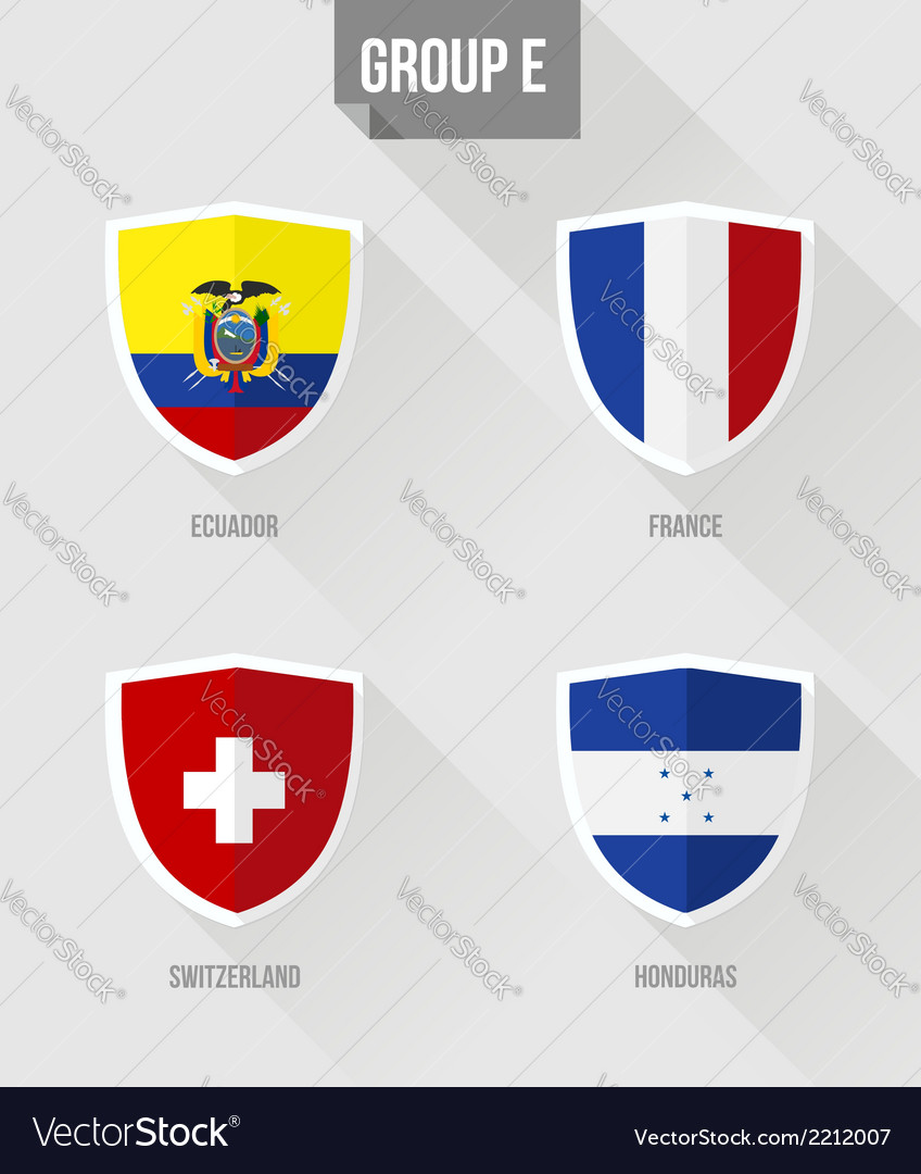 Brazil soccer championship 2014 group e flags vector | Price: 1 Credit (USD $1)