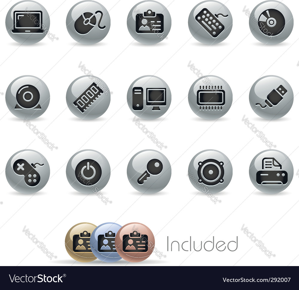 Computer icons vector | Price: 3 Credit (USD $3)