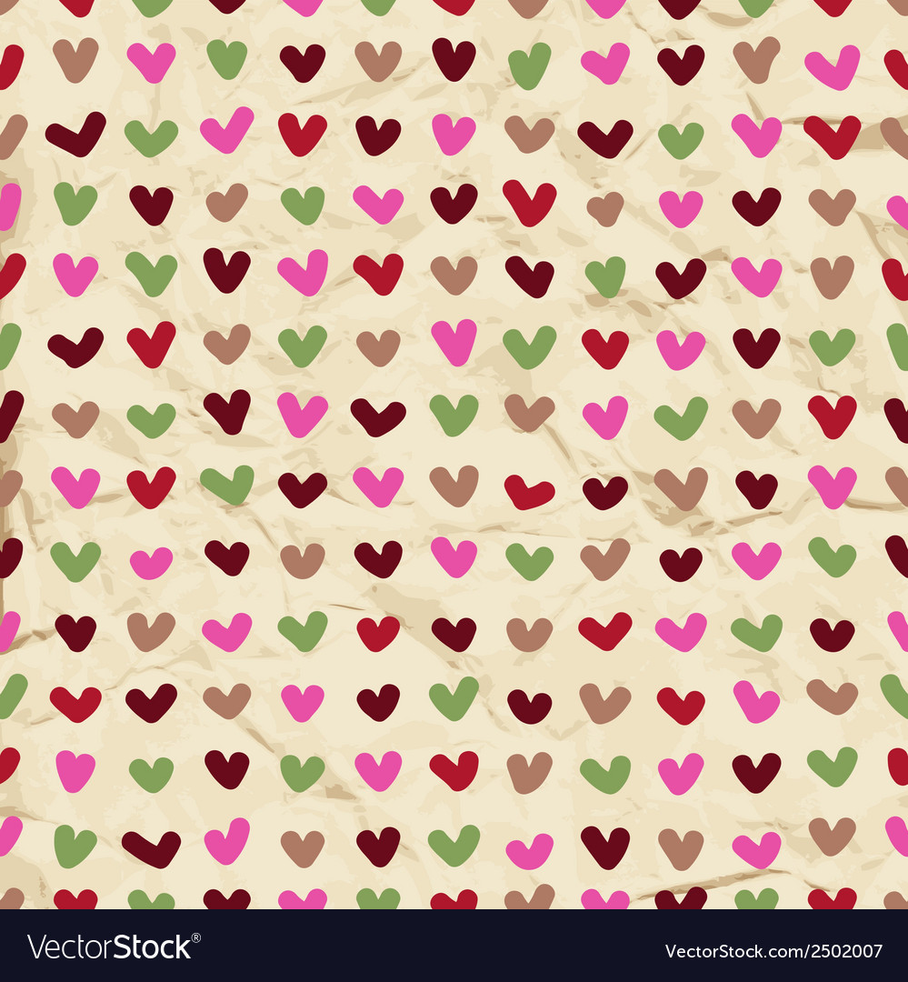 Cute hearts seamless pattern vector | Price: 1 Credit (USD $1)